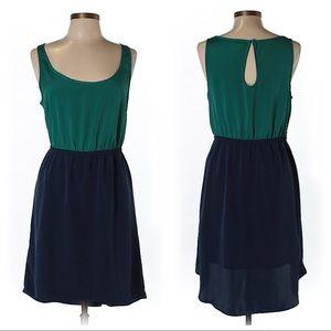 American Eagle Casual Dress green/blue